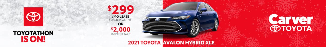 Best lease and finance deal on the all-new 2021 Toyota Avalon near Columbus Indiana
