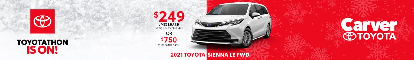 Best lease deal on the all-new 2021 Toyota Sienna near Columbus, IN