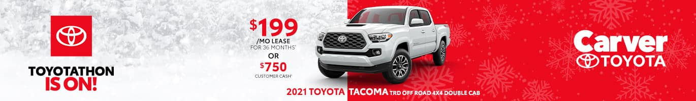 Best lease deal on the 2021 Toyota Tacoma near Columbus Indiana