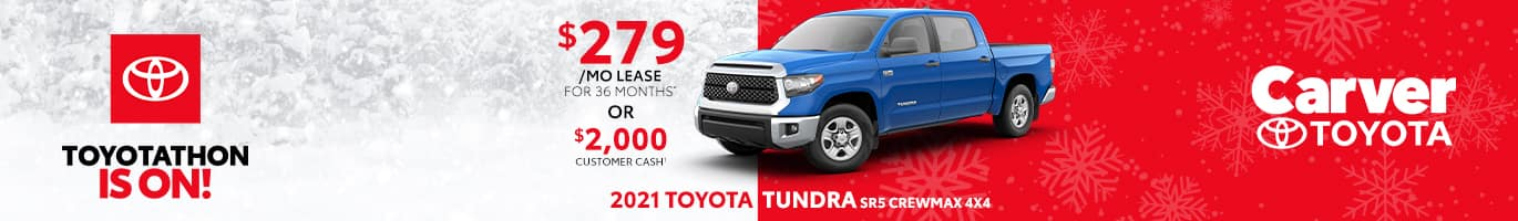 Best lease deal on the all new 2021 Toyota Tundra near Columbus Indiana