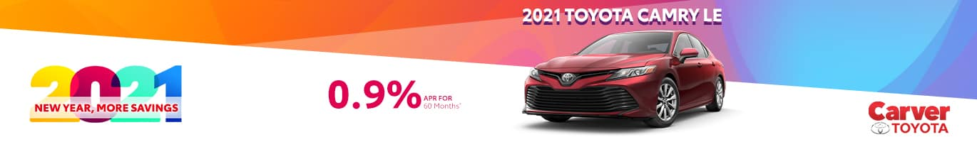 Best finance offer on an all-new 2021 Camry LE FWD near Columbus Indiana