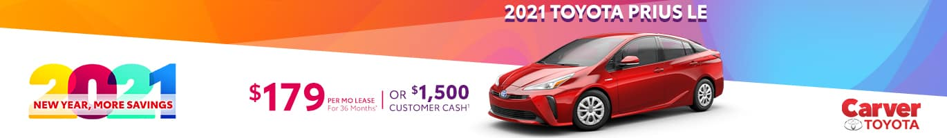 Best lease deal on a 2021 Prius near Columbus IN