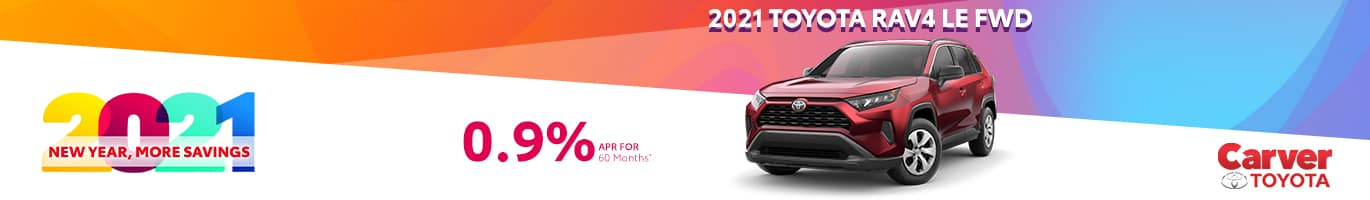 Special finance offer on a new 2021 RAV4 near Columbus Indiana