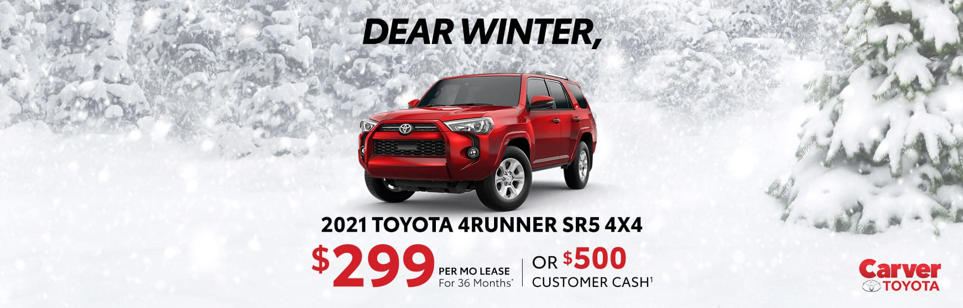Huge savings on a new 2021 Toyota 4Runner SR5 near Taylorsville IN