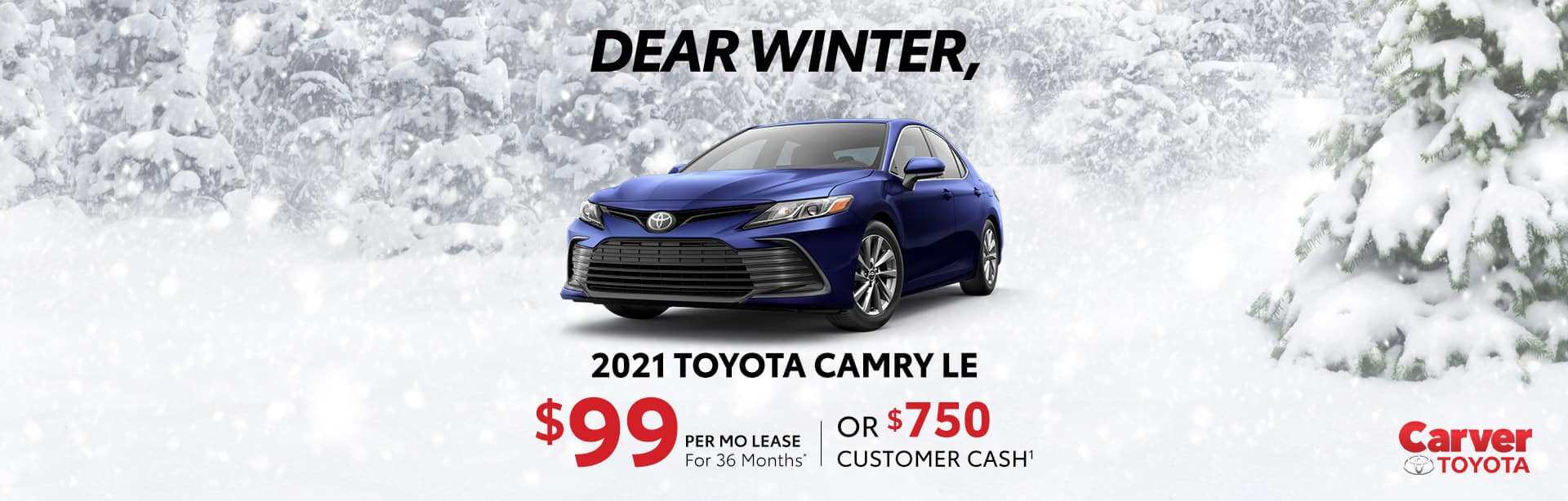 Lease and rebate offers on a new 2021 Toyota Camry near Taylorsville IN