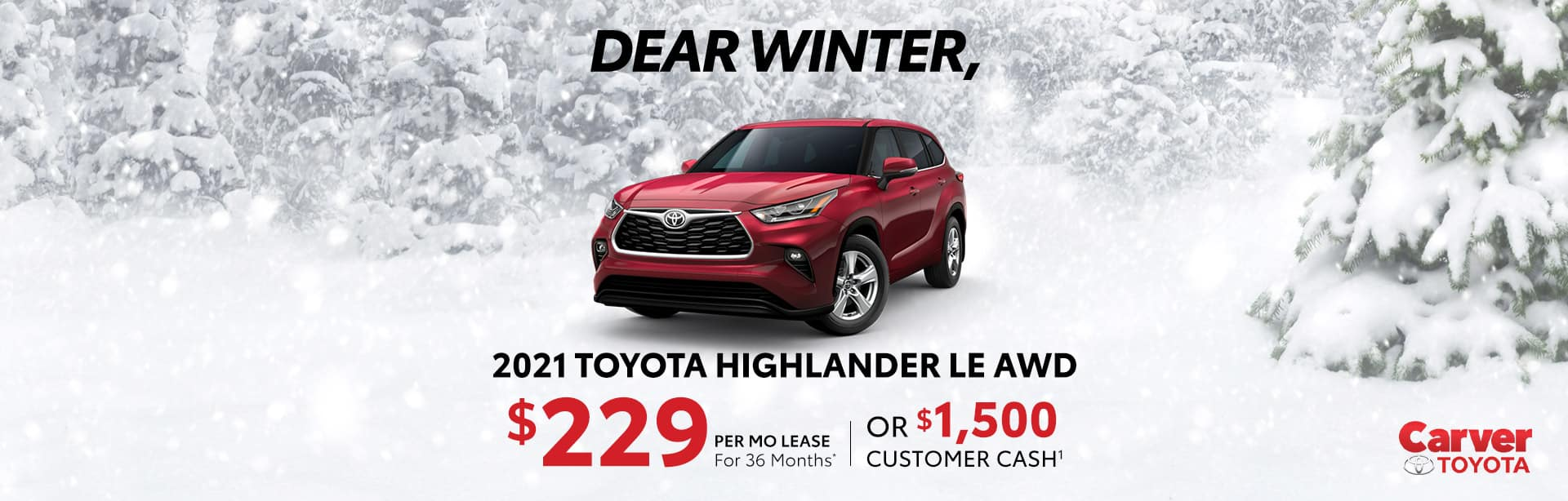 Best lease or Rebate offer on a new 2021 Toyota Highlander near Taylorsville IN