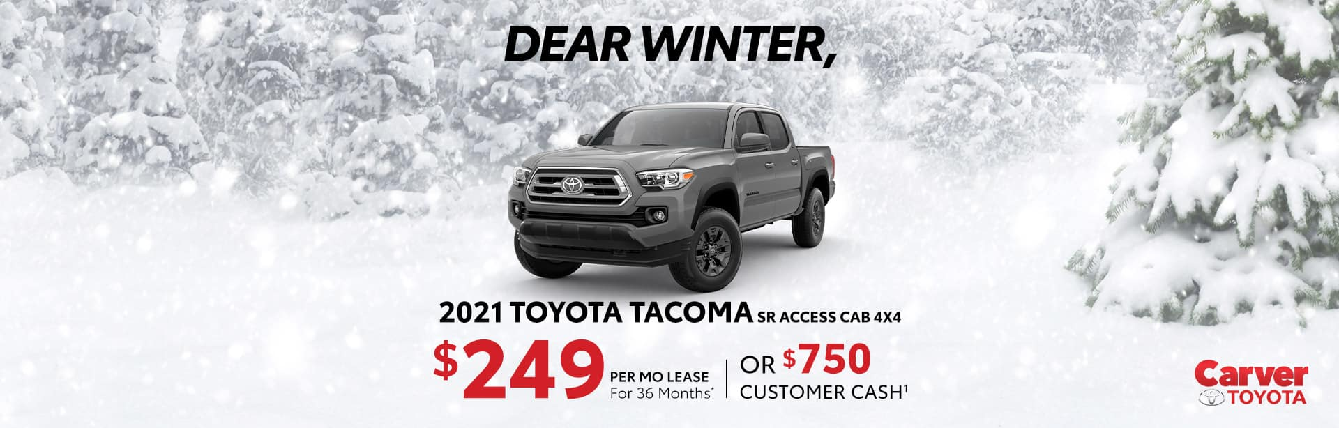 2021Toyota Tacoma Lease and Rebate offer near Taylorsville IN