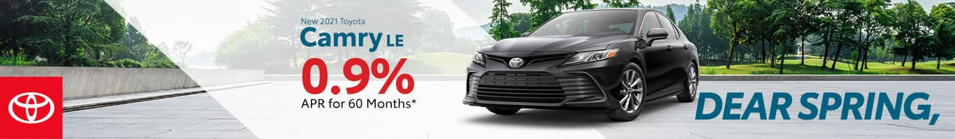Best finance deal on a 2021 Toyota Camry near Taylorsville IN