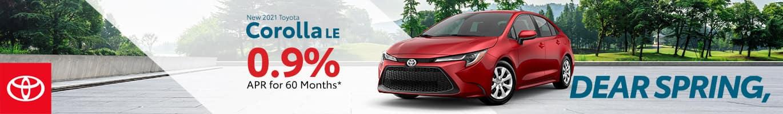 Best finance deal on a 2021 Toyota Corolla near Taylorsville IN