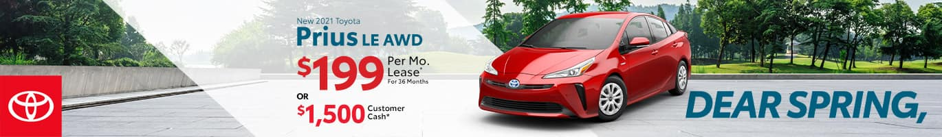 Best lease deal on a 2021 Toyota Prius near Taylorsville IN