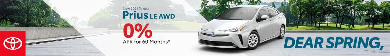 Best finance deal on a 2021 Toyota Prius near Taylorsville IN