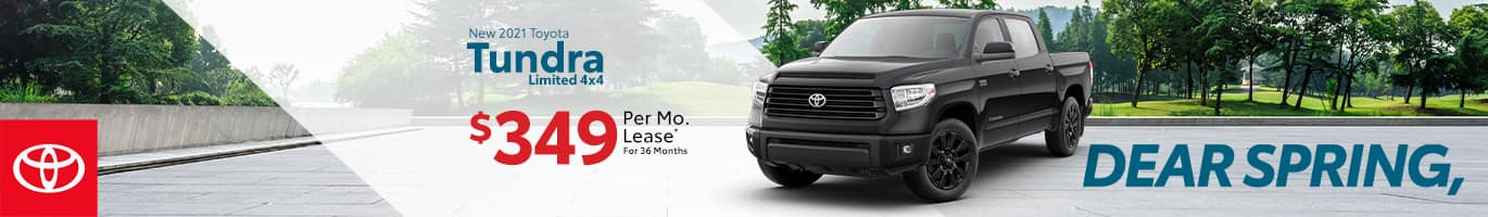 Best lease offer on a new 2021 Toyota Tundra near Taylorsville IN