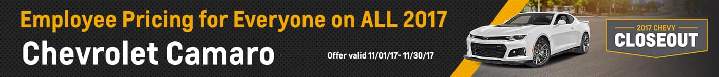 Camaro November Offer Chevrolet of Naperville