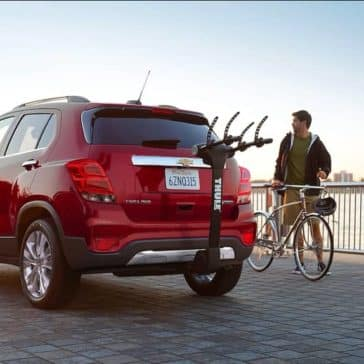 2018 Chevrolet Trax with bike rack