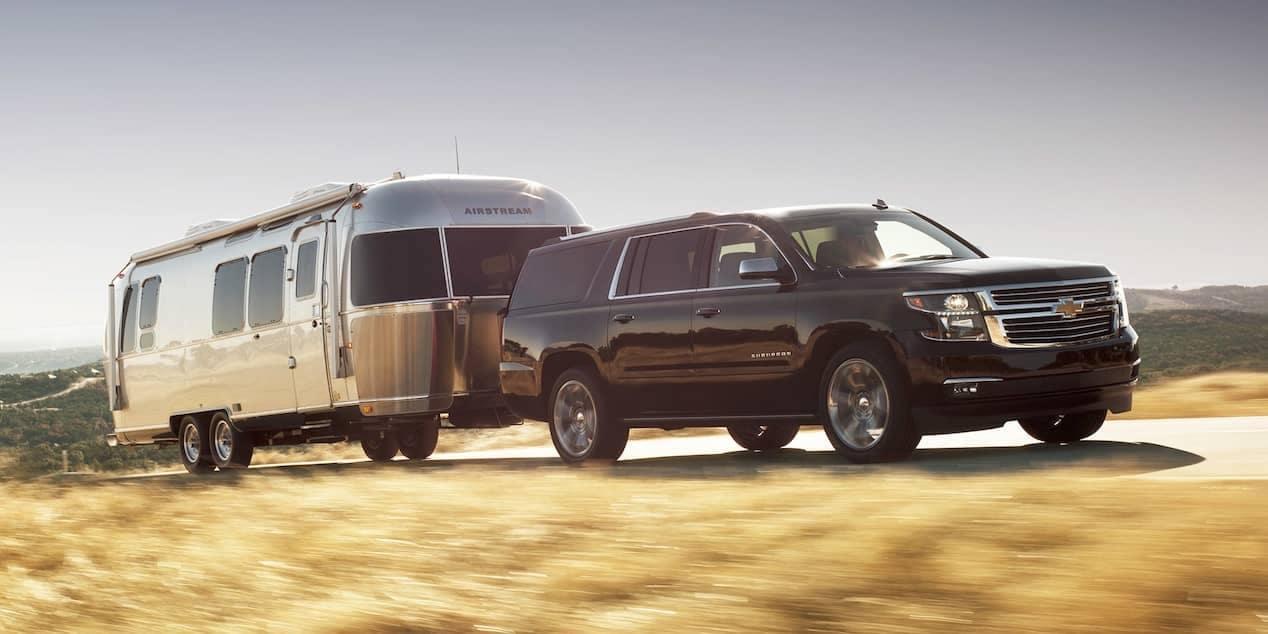 2018 Chevrolet Suburban tows a trailer
