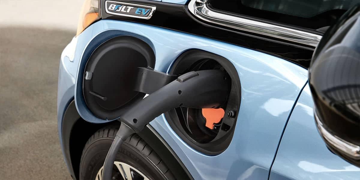 2018 Chevrolet Bolt EV closeup of charging port