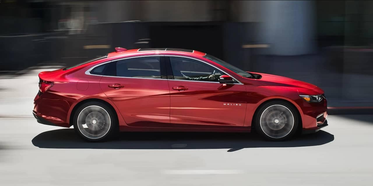 2018 Chevrolet Malibu in red