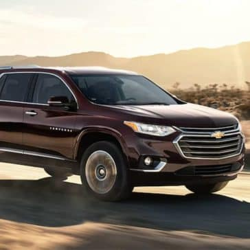 2018 Chevrolet Traverse Driving On Dirt Road
