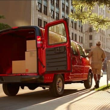 2018 Chevrolet Express Cargo Van loading space