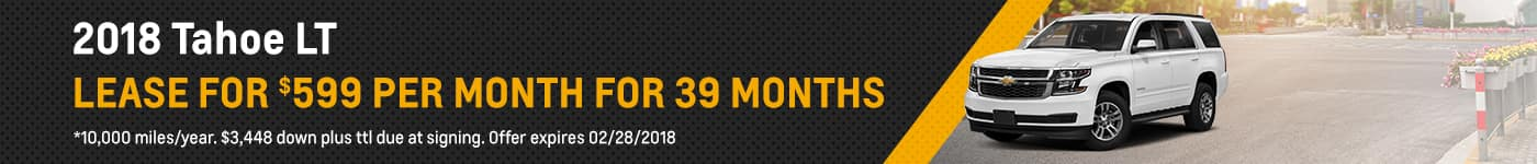 Chevrolet Tahoe February Offer