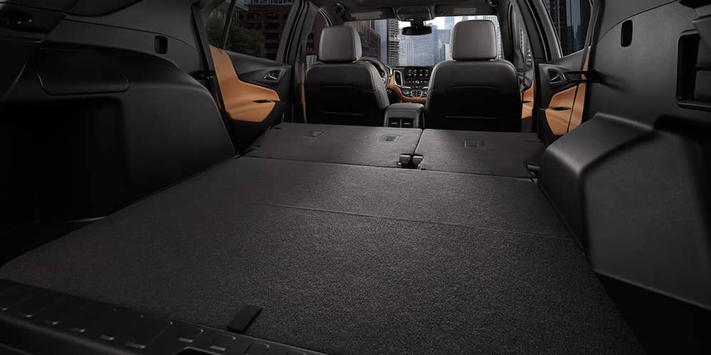 rear folded seats and cargo space in 2019 Chevrolet Equinox