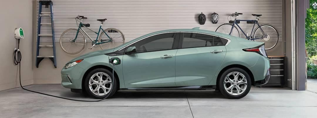 2018 Chevy Volt charging in garage