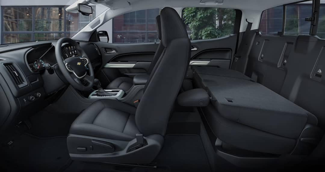 2019 Chevy Colorado rear fold down seat