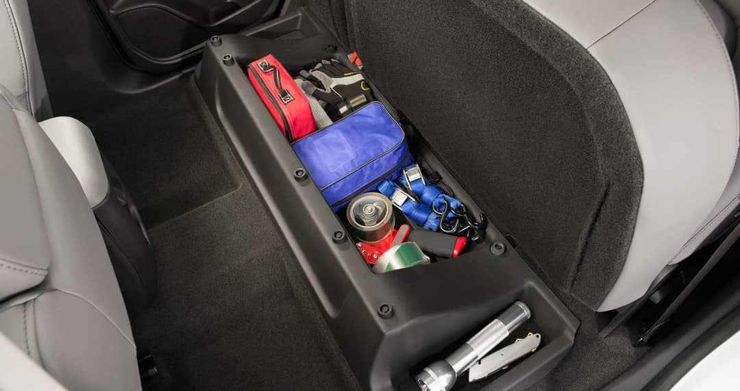 underseat storage in 2019 Chevrolet Colorado