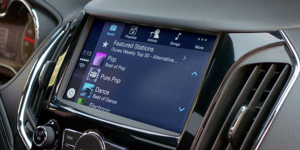 infotainment screen in 2019 Chevrolet Cruze