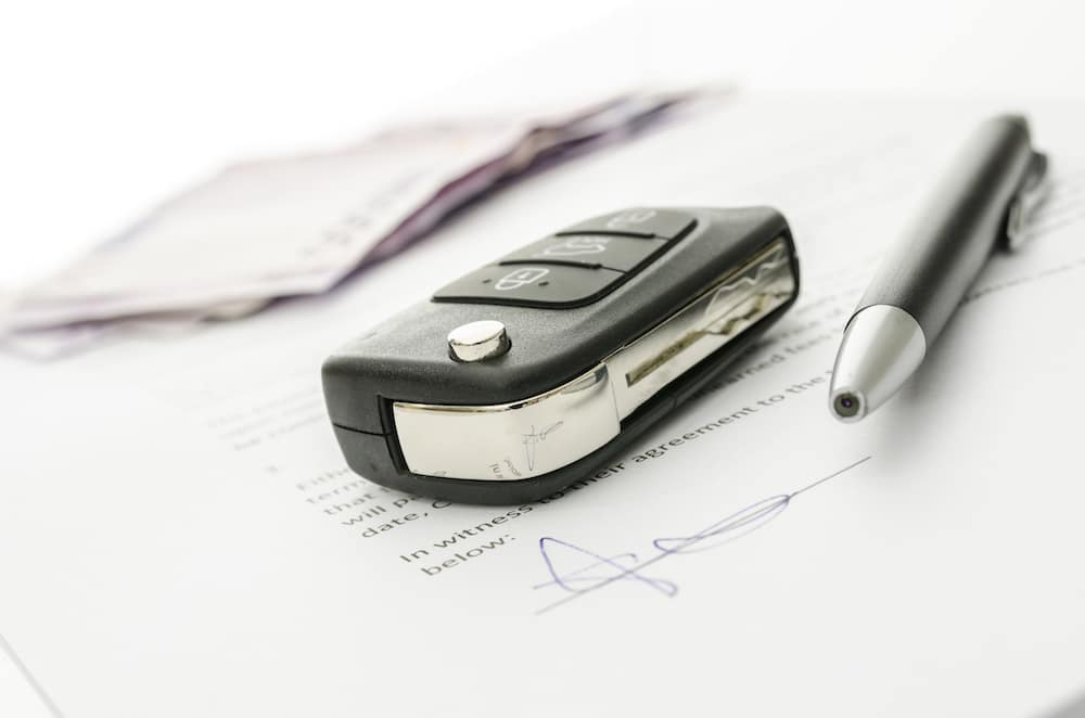 Car Key and loan paperwork
