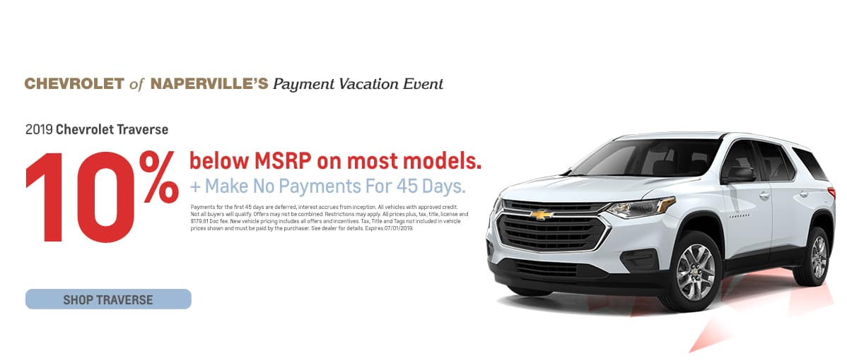 2019 Chevrolet Traverse - 10% below MSRP on most models plus make no payments for 45 days - Shop Traverse