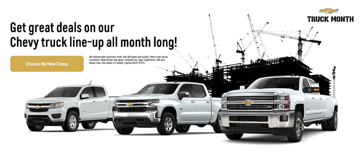 Shop during Truck month at Chevrolet of Naperville! Expires 8/31