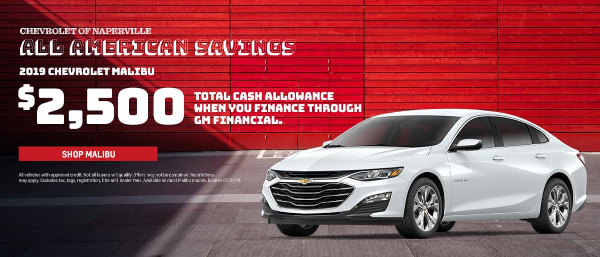 Shop For Your Next 2019 Chevrolet Malibu During The All-American Savings Event. Expires 7/31