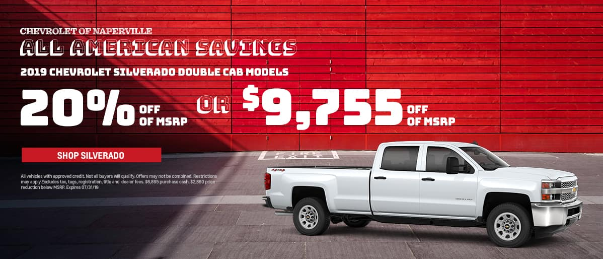 Shop For Your Next Chevrolet Silverado During The All-American Savings Event. Expires 7/31