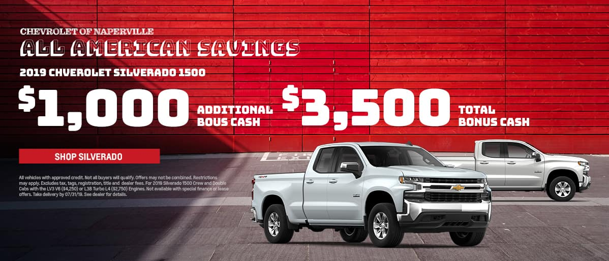 Shop For Your Next Chevy Silverado 1500 During the All American Savings Event. Expires 7/31/19
