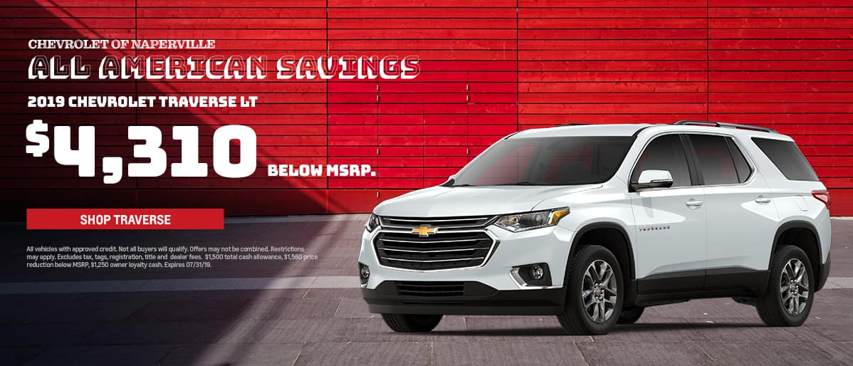 Shop For Your Next Chevrolet Traverse During The All-American Sales Event. Expires 7/31