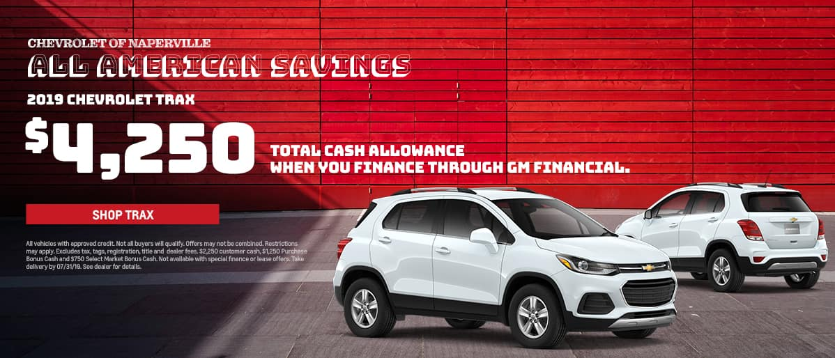 Shop For Your Next Chevrolet Trax During The All-American Sales Event. Expires 7/31