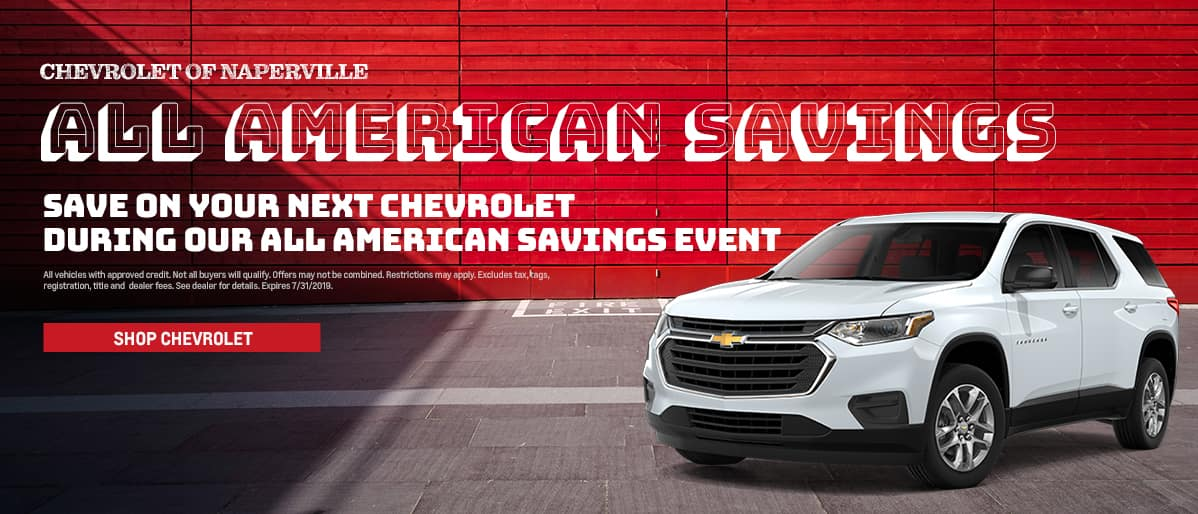 All American Savings - Save on your next Chevrolet during our All American Savings event - Shop Chevrolet