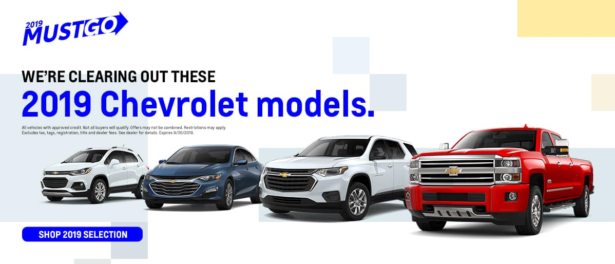 We're clearing out these 2019 Chevrolet models - Shop our 2019 Selection