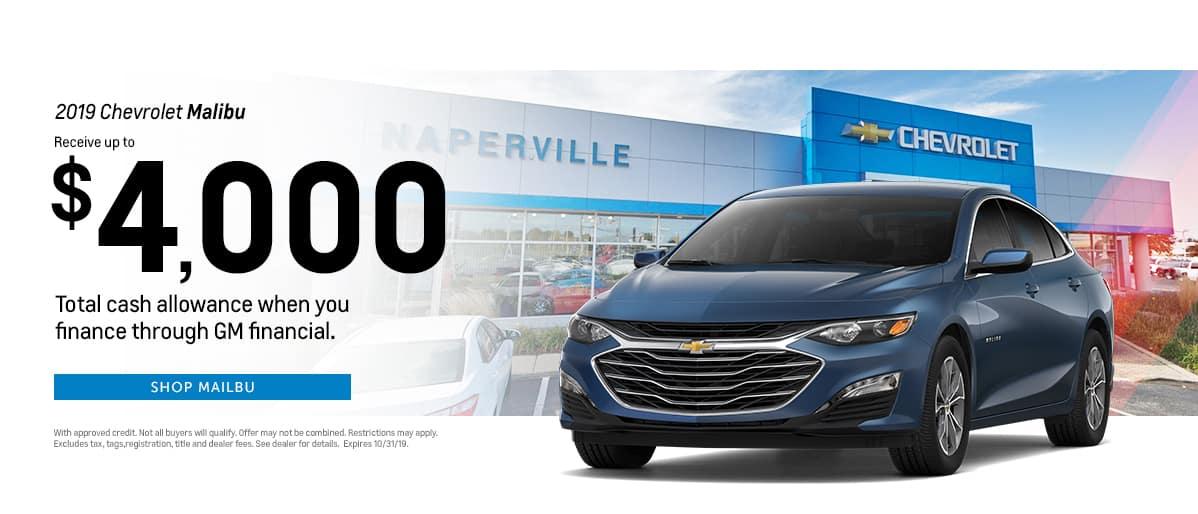 2019 Chevrolet Malibu - Up to $4,000 total cash allowance when financed through GM financial - Shop Malibu