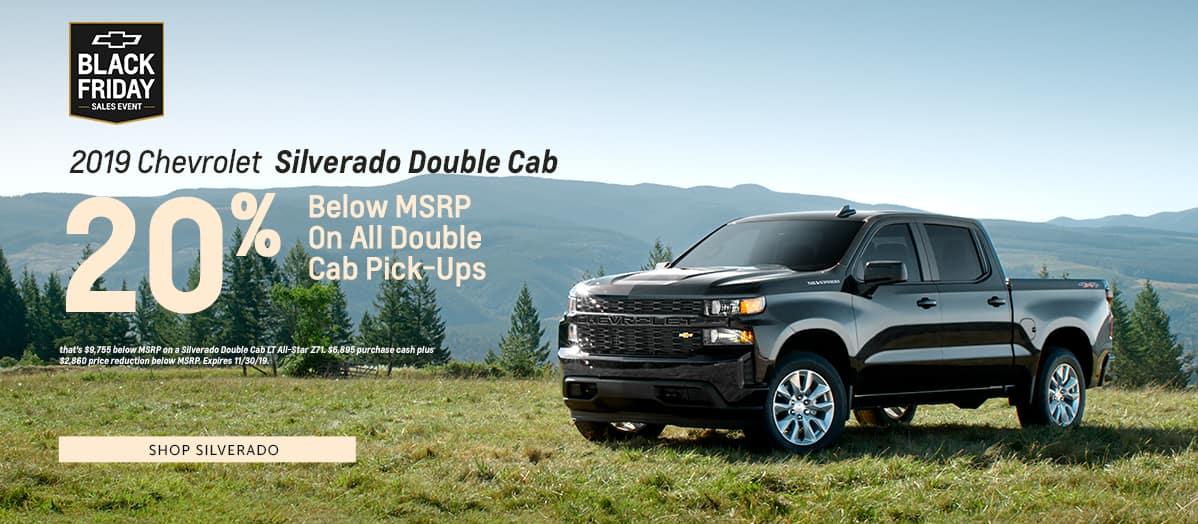 2019 Chevrolet Silverado Double Cab - 20% below MSRP on all double cab pickups - Shop Silverado