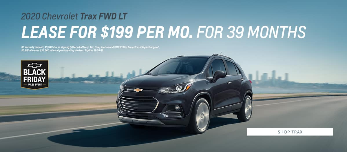 2020 Chevrolet Trax FWD LT - Lease for $199 per month for 39 months - Shop Trax