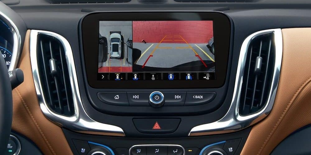 Close on infotainment system of Chevy Equinox console