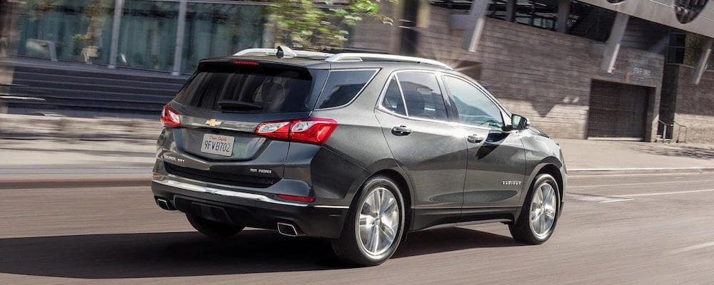 2020 Chevy Equinox driving on city street