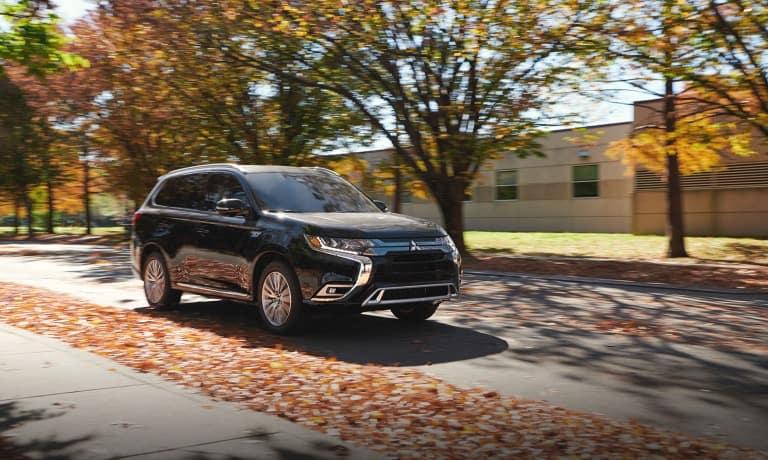 2021 Mitsubishi Outlander Sport Driving Fall Trees