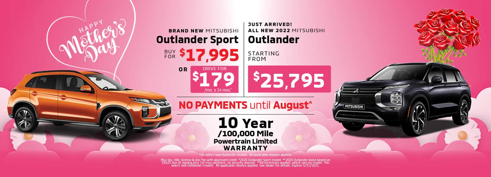 Mother's Day Special - New Outlander Sport and 2022 Outlander