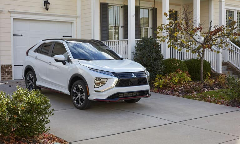 2022 Eclipse Cross parked at family home