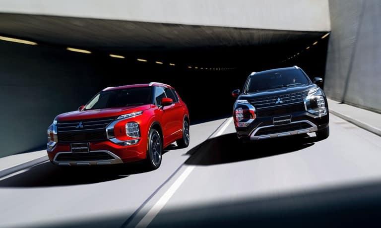 2022 Mitsubishi Outlander driving in highway
