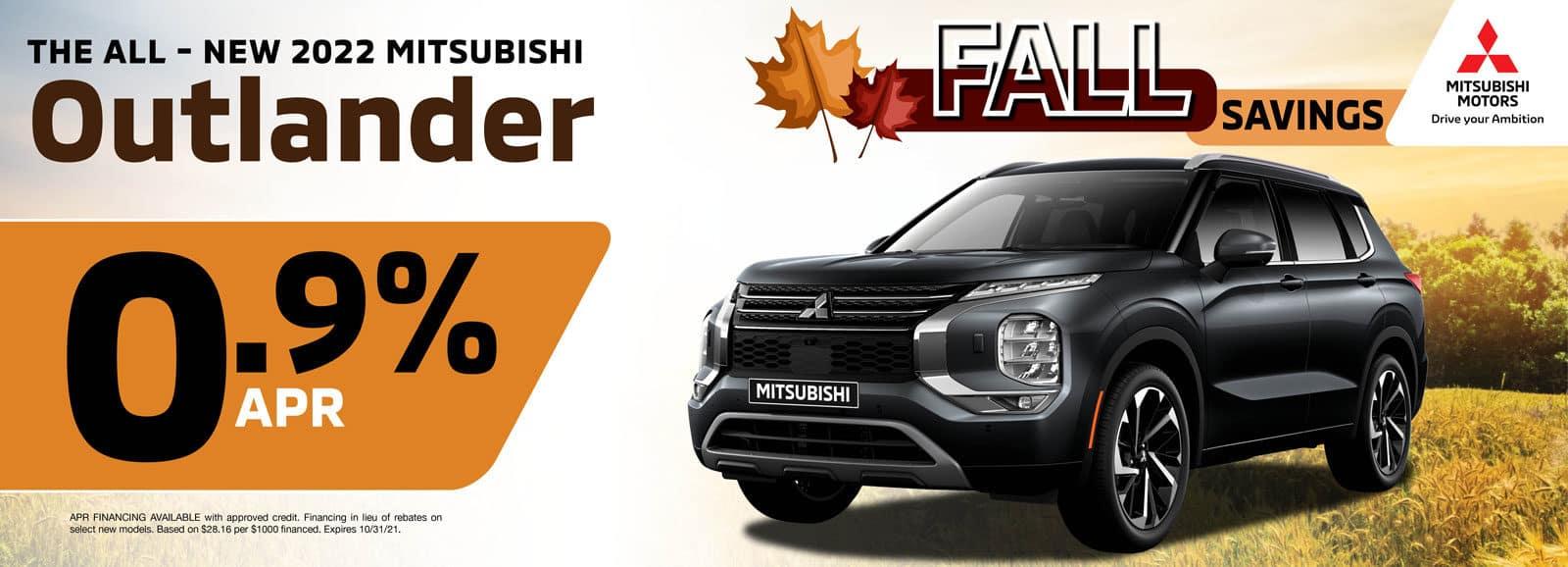 2022 Mitsubishi Outlander for 0.9% APR