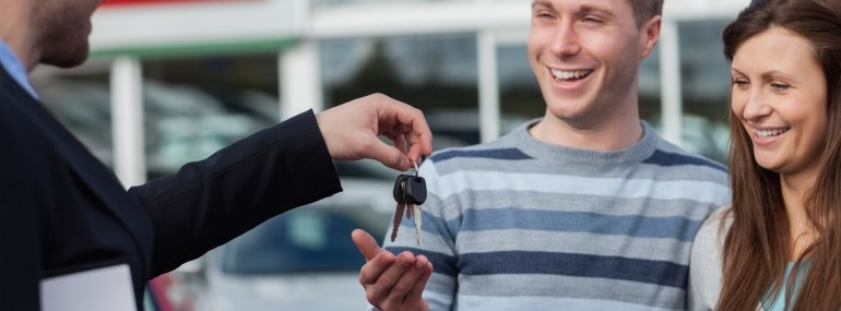 Couple getting car keys 14077991